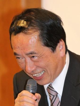 負傷した菅直人前首相