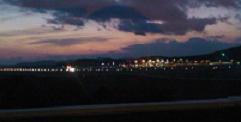 岡山空港の夜景
