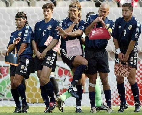 サッカー・フリーキックとバッグ(アルゼンチン代表)