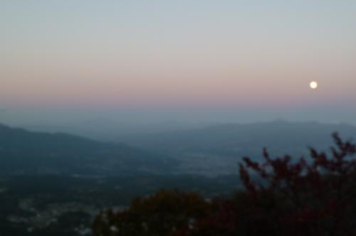 榛名峠の夕日