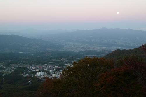 榛名山の夕日