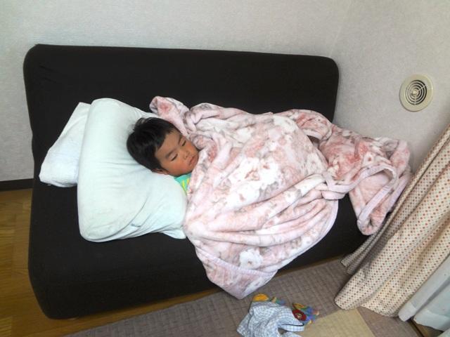 陸ちゃんのふて寝