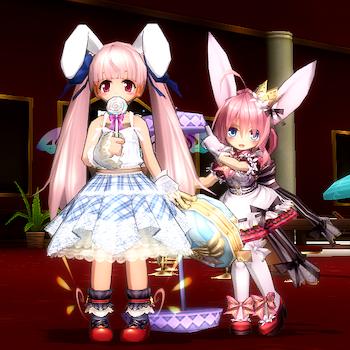 うさぎ&ミニー