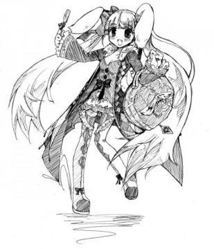うさぎディーラー線画(絵師:リトさん)