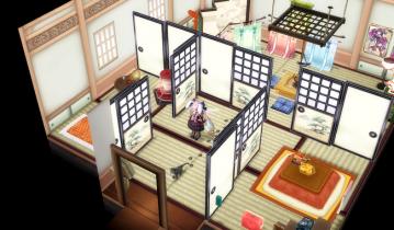 高級な和室の壁紙&床