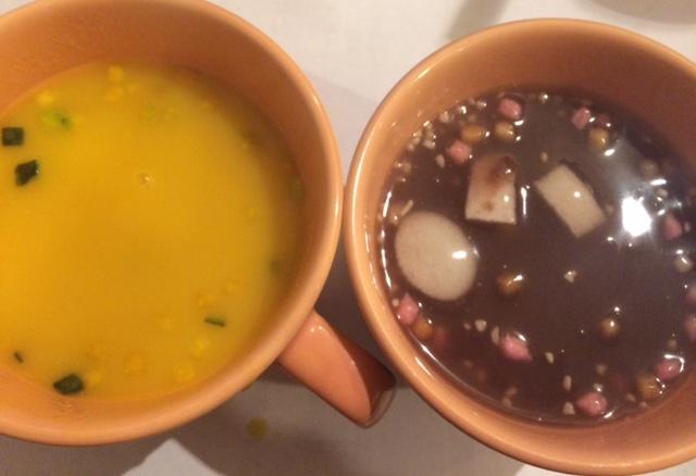 葛湯と南瓜スープ