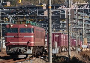 2013年撮り納めの3092レ(=EF81-717牽引)