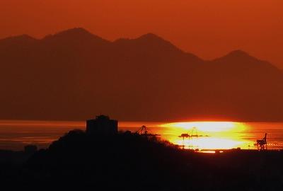 新年の夕陽1