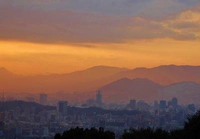 新年の夕陽 2