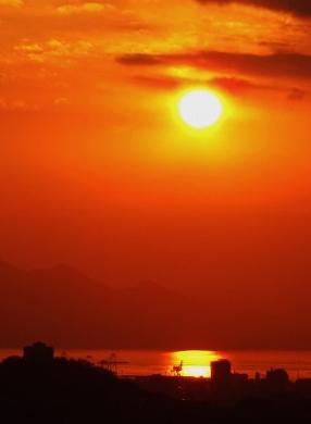 新年の夕陽 3