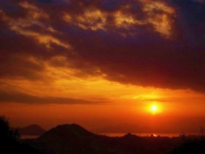 新年の夕陽 4