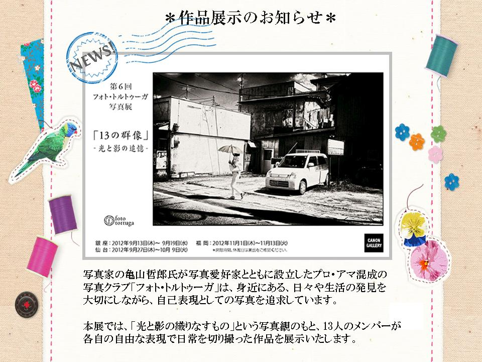 フォとトルトゥーガ2012_宣伝キャノン