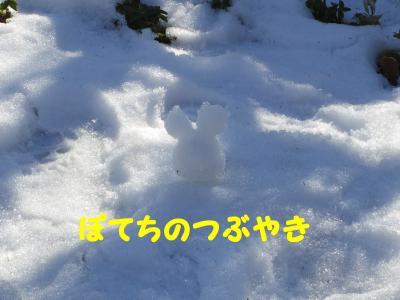 20130120 雪ミッキー