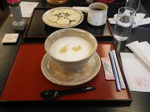カフェラテ&わらび餅