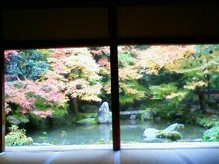 蓮花寺 庭園を正面で