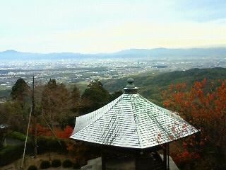 薬師堂から京都市内を望む