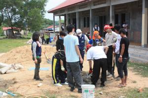 学校建設活動作業