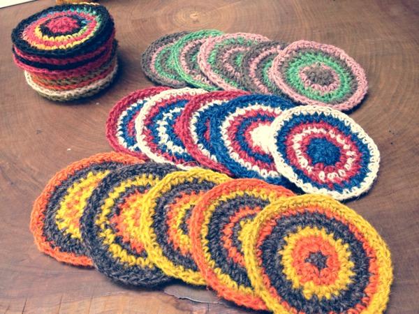 冬の食卓で大活躍♡手編みのコースターがおしゃれで可愛い♡