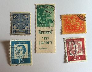 シンプルな切手