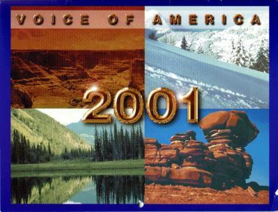 2001年 VOA VOICE OF AMERICA カレンダーより 表紙など