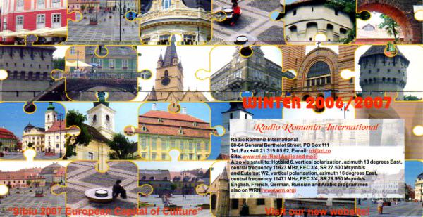 Radio Romania International(ルーマニア) 2006-2007年 冬季スケジュール表