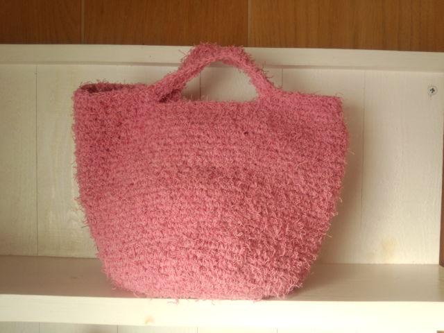 裂き編みバッグ 緑
