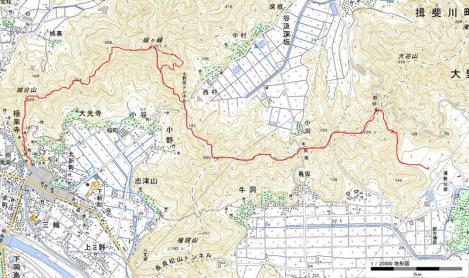 城ケ峰縦走map01