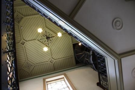アールヌーボー様式の天井