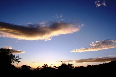 荷台より見たある日の空