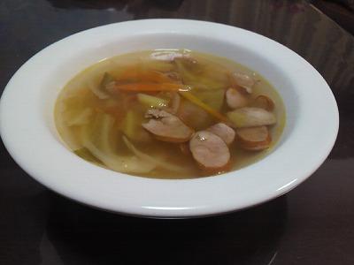 野菜たっぷりコンソメスープ