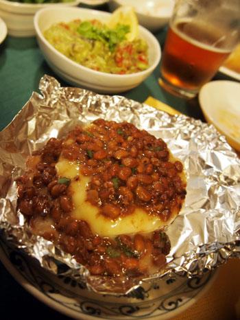 納豆とカマンベール焼き