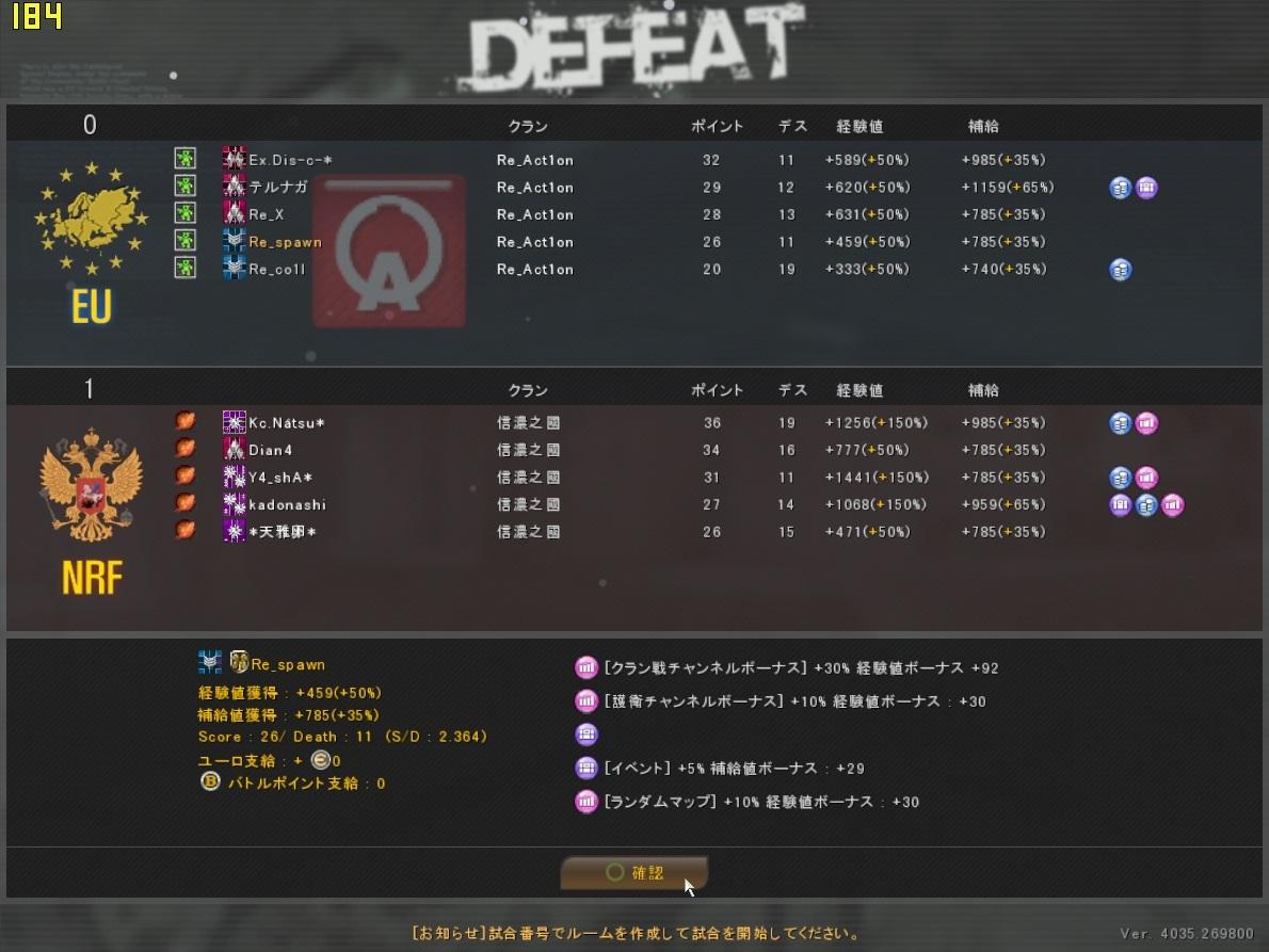 ODL2013Season1 Re_Act1on vs 信濃之國
