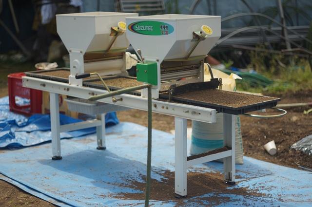 米の播種機