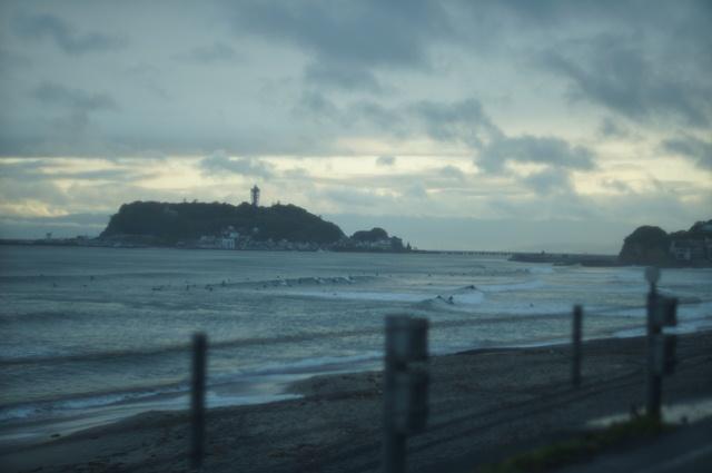雨上がりの江ノ島の夕暮れ