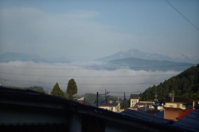 野沢温泉の雲海