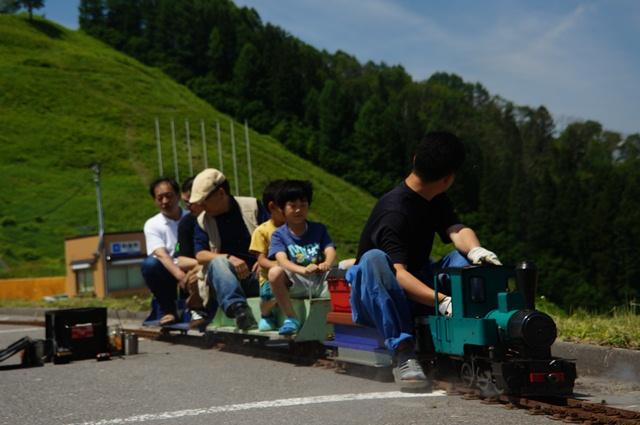 野沢温泉でミニSL・ライブスチーム遊び