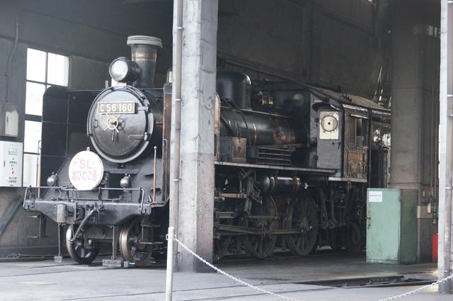 C56 160 梅小路蒸気機関車館にて