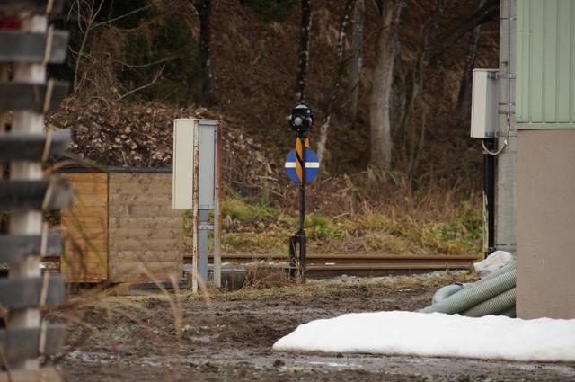西桑名川の転轍機標識