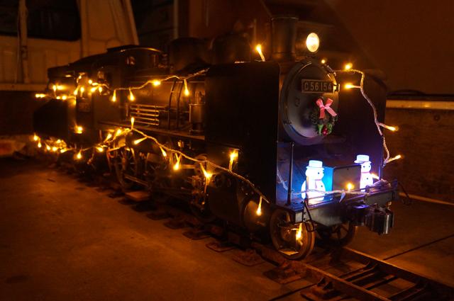 C56イルミネーショントレイン仕様、暗いところでLED点灯