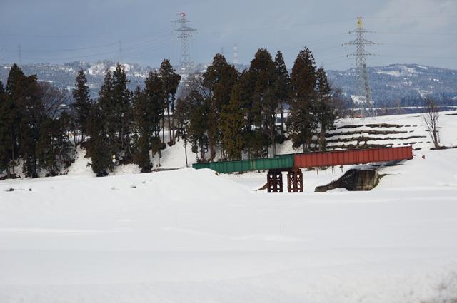 1月1日の羽根川鉄橋
