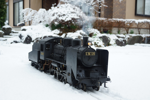 C56 129 SL LIVESTEAM 蒸気機関車