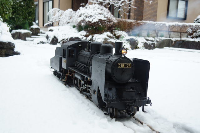 C56 129 SL LIVESTEAM 蒸気機関車 5インチゲージ 雪景色