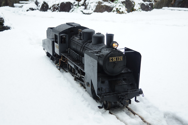 C56 129 SL  5インチゲージ 雪景色