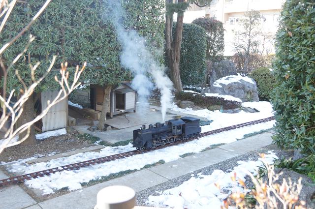 雪とミニSL C56 129 東京 残雪 日野