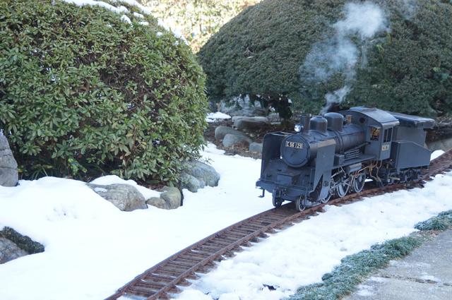 雪とミニSL C56 129 残雪 日野