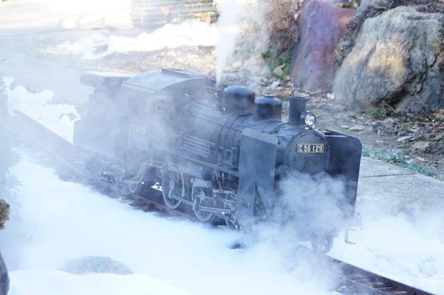 雪とライブスチーム C56 129 残雪 日野