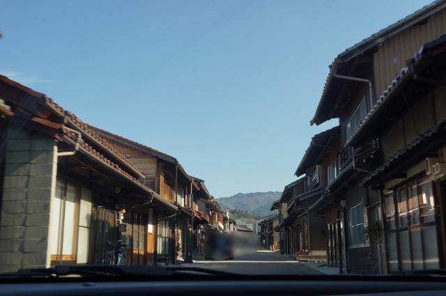 岩村城下町のひなびた風景