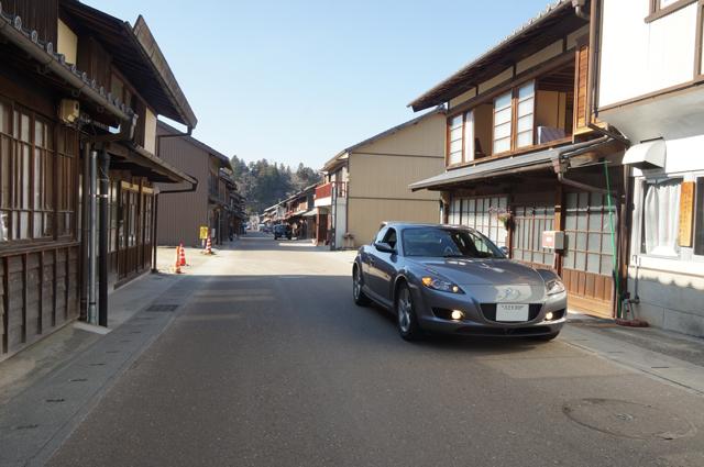 マツダRX-8と岩村城下町