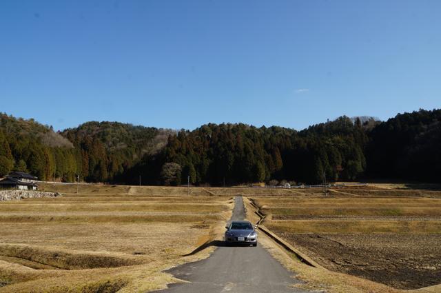 マツダRX-8と明知鉄道の里山風景