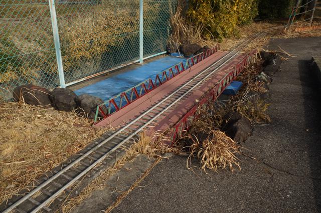 豊田の廃線になったミニSLのレイアウト 鉄橋
